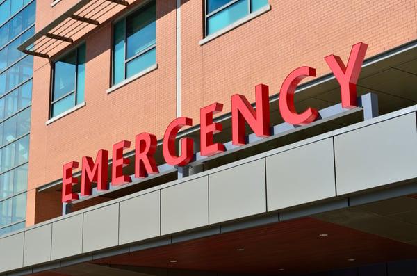 Edificio de urgencia de una clínica