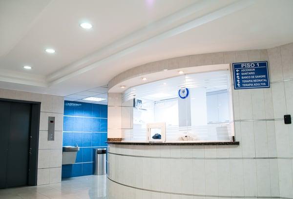 sala de espera de clinica